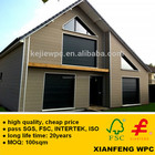 Europe Style Waterproof Sanded WPC Wall Cladding Panel Anti UV Wood Plastic Composite Boards For Exterior House Facade