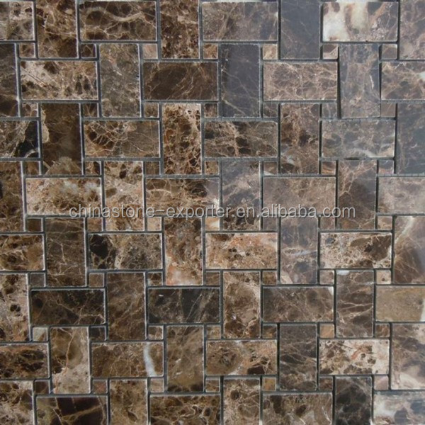 Factory marble polished finished marble dark emperador polished faux marble tile