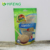 stand up zip lock snack bag / nuts packaging pouch with window / resealable bag for snack