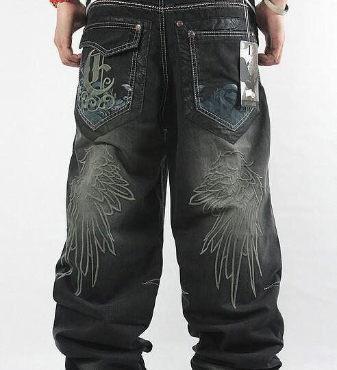 2019 Wholesale 2017 Mens Baggy Jeans Men Wide Leg Denim ...