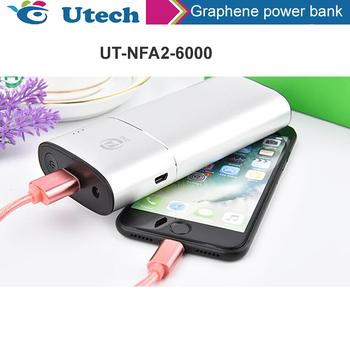 Dpowerful Universal Dual Usb 6000mah High Capacity Graphene Power Bank -  Buy Graphene Power Battery,Power Bank Supply 6000mah,Mobile Power Product  on