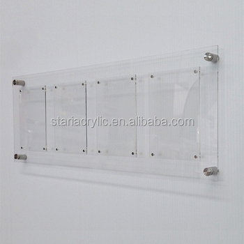 Wall Mount Perspex Acrylic Multi Photo Picture Frame Acrylic