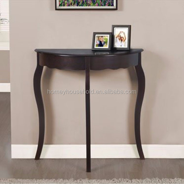 Console Table Furniture Wooden Half Moon Accent Clic Black Product On Alibaba
