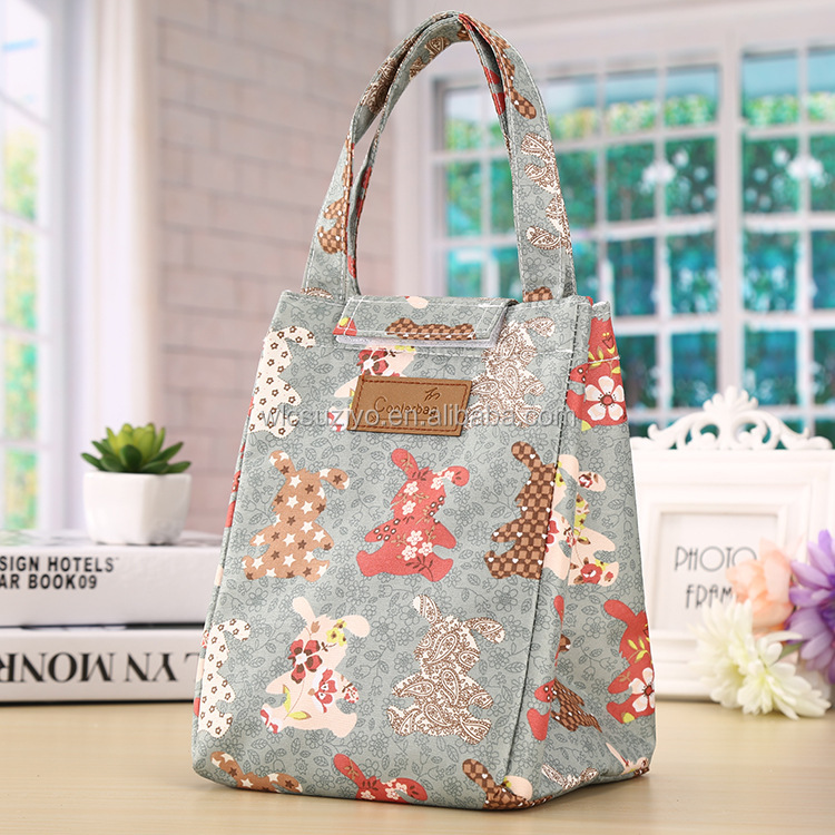 Wholesale Premium Waterproof Oxford Insulated Lunch Cooler Tote Handbag Women Lunch Bag