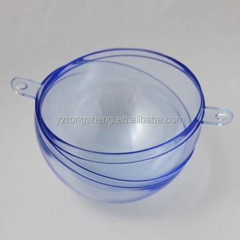 Het Openen Van Transparante Plastic Kerstballen Kan Openen Gekleurde