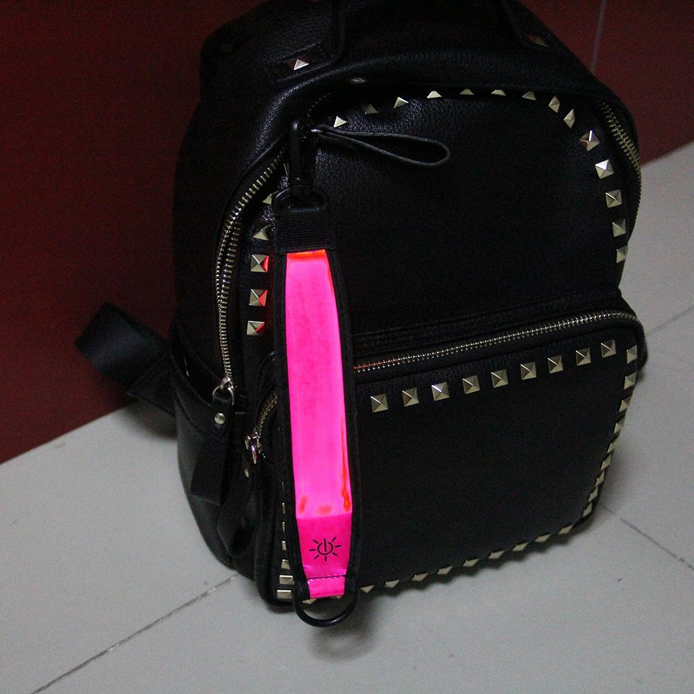 High visibility safety led flashing glow s shaped hanger hook