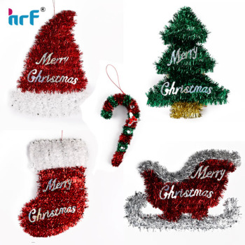 tinsel candy canechristmas socksledge wall door christmas decoration indoor out door