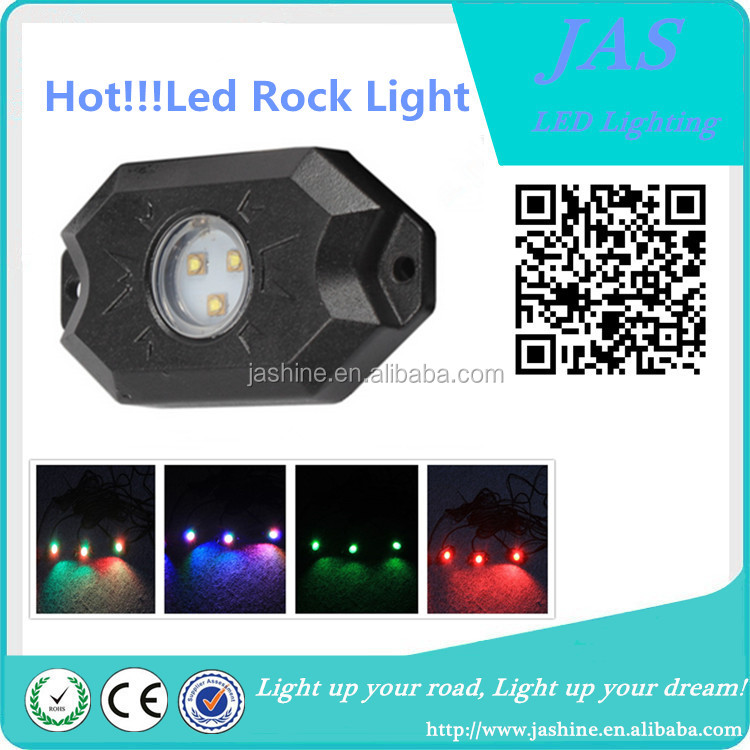 2017 Hot sales under car 9w 12-24v red green blue white yellow Led rock light
