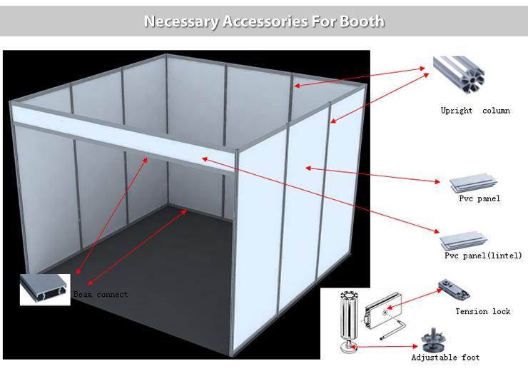 Exhibition Stand Accessories : Aluminum trade show m exhibition stand view modular exhibition