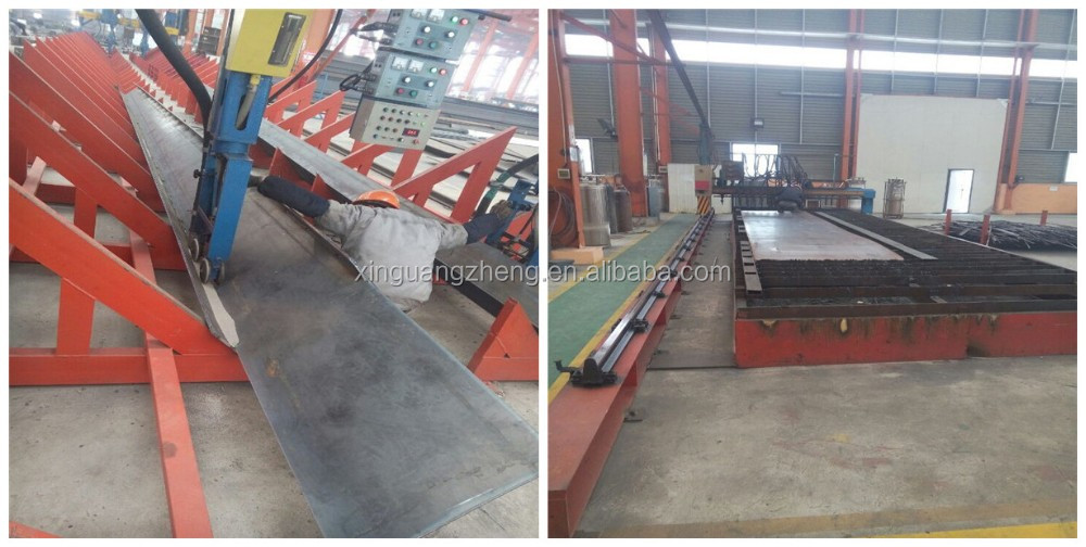 Q345B grade steel structure workshop for rice milling plant