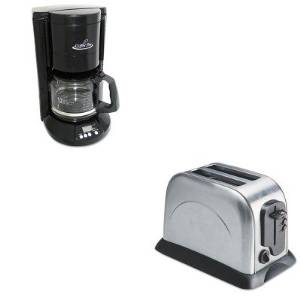 KITOGFCP333BOGFOG8073 - Value Kit - Coffee Pro 2-Slice Toaster with Adjustable Slot Width (OGFOG8073) and Coffee Pro Home/Office 12-Cup Coffee Maker (OGFCP333B)