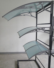PC awning canopy for front/back door window awning