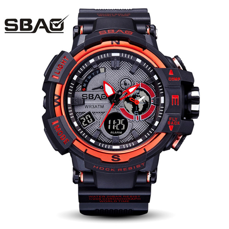 SBAO S-8008 Mens Watches Relogio Masculino Quartz Gold Watch Men Casual Swimming Military Waterproof Sport Geek Wrist Watch фото