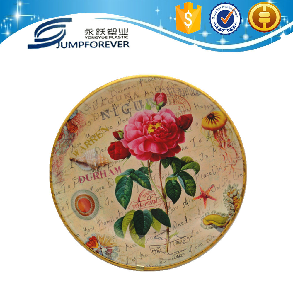 Household daily promotion melamine dinnerware wholesale,plastic plate