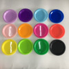 disposable plastic color party snack plate