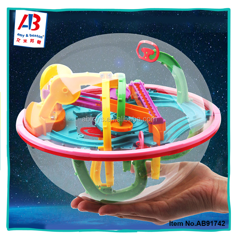 3D Plastic Educational Maze Ball Brain Teaser Puzzle