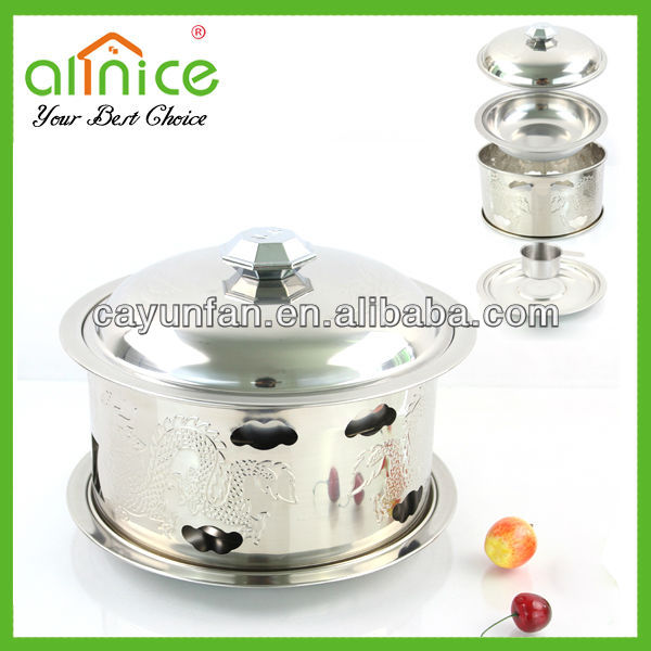 Stainless steel alcohol stove/steel hot pot cooker/steel hot pot