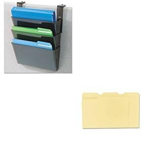 KITDEF73504UNV12113 - Value Kit - Deflect-o DocuPocket Three-Pocket Partition Set (DEF73504) and Universal File Folders (UNV12113)