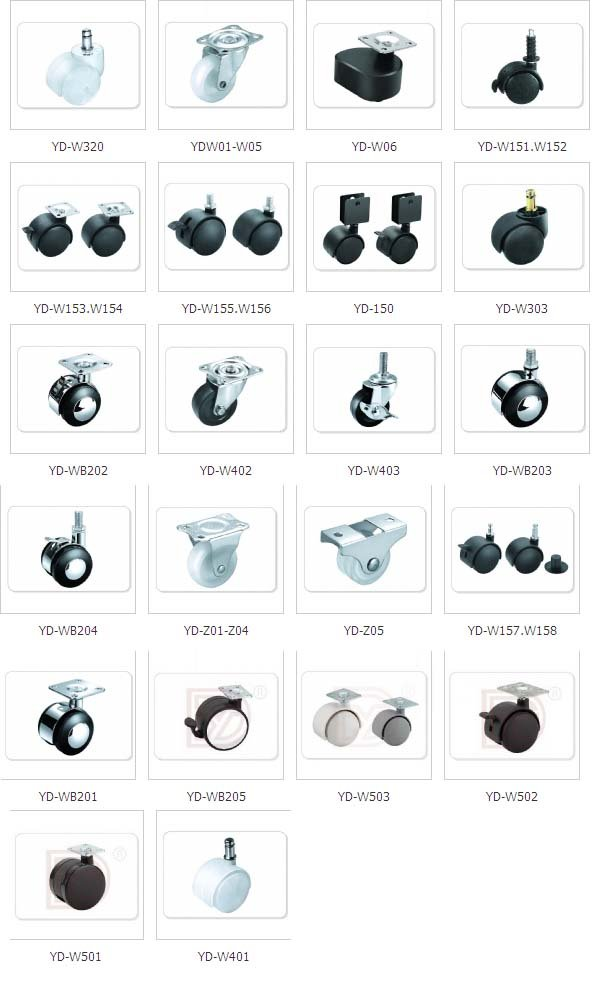 High Quality Diffe Types Furniture Plastic Small Caster Wheels From Wheel Factory