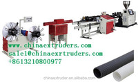 PVC single wall corrugated pipe production line / single wall corrugated,PP/PE/PA/PVC single wall corrugated pipe production lin