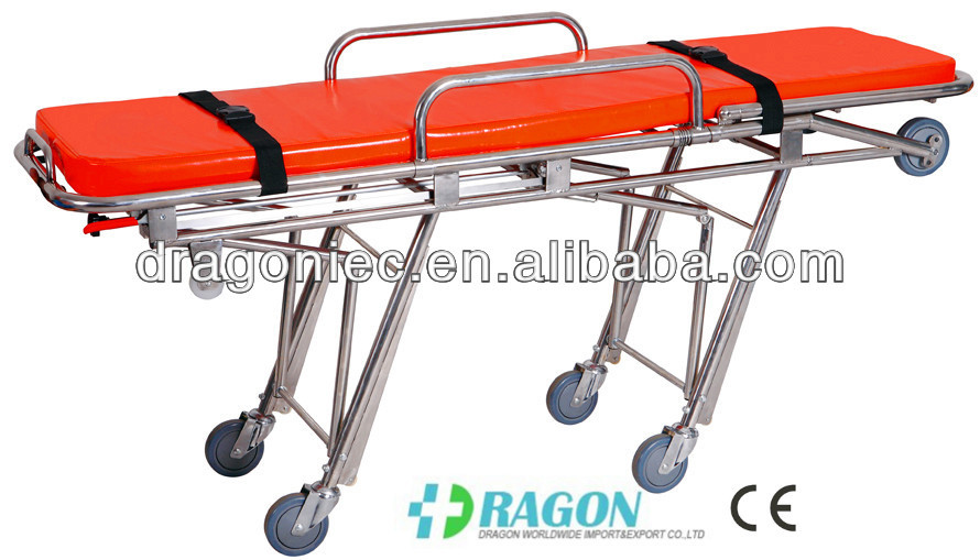 DW-SS001 emergency stainless steel hospital equipment for ambulance stretcher in sale
