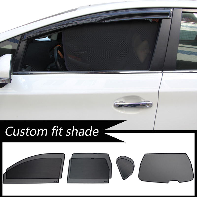 Custom Fit Shade Mesh Car Window Blinds For Pajero