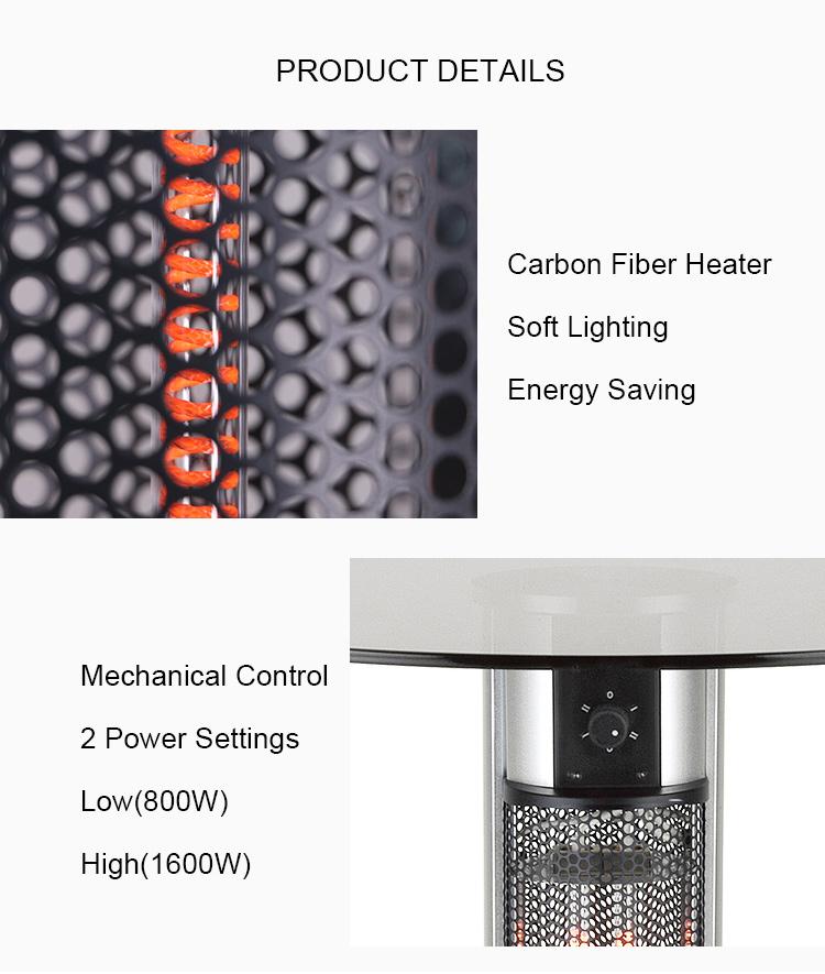 ผลิต Scientec กระจกตารางด้านบนการควบคุมระยะไกลเครื่องทำความร้อนไฟฟ้า