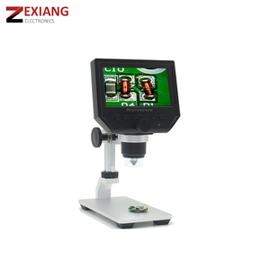 "G600 4.3"" LCD screen Video Camera Recorder HD 3.6 M Wide Usage Digital Microscope with metal bracket"