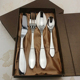 Elegant Box Packing Cutlery set 4 Pcs Stainless Steel Fork Spoon Knife For Gift