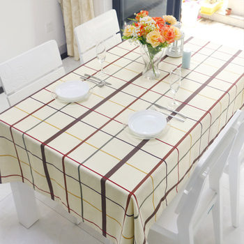 wholesale Eco-Friend printed canvas tablecloth/table cloth Plastic Tablecloth Table Cover