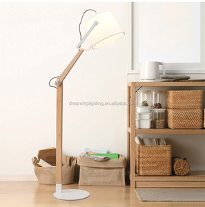 New style modern wood standing wooden floor light lamp