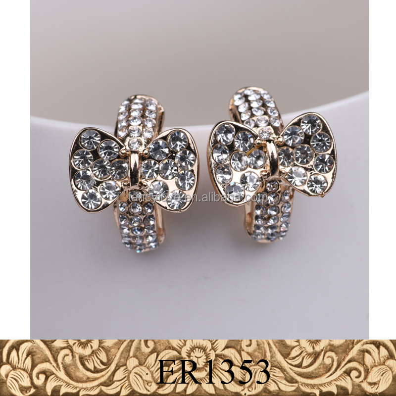 New arrival nice cute butterfly moroccan silver jewelry gold jewelry earring