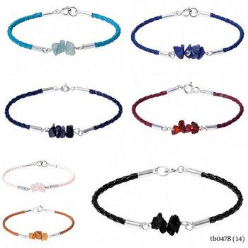 Handmade Bangle Bracelet Silver Balance Boho Leather Strap With Quartz