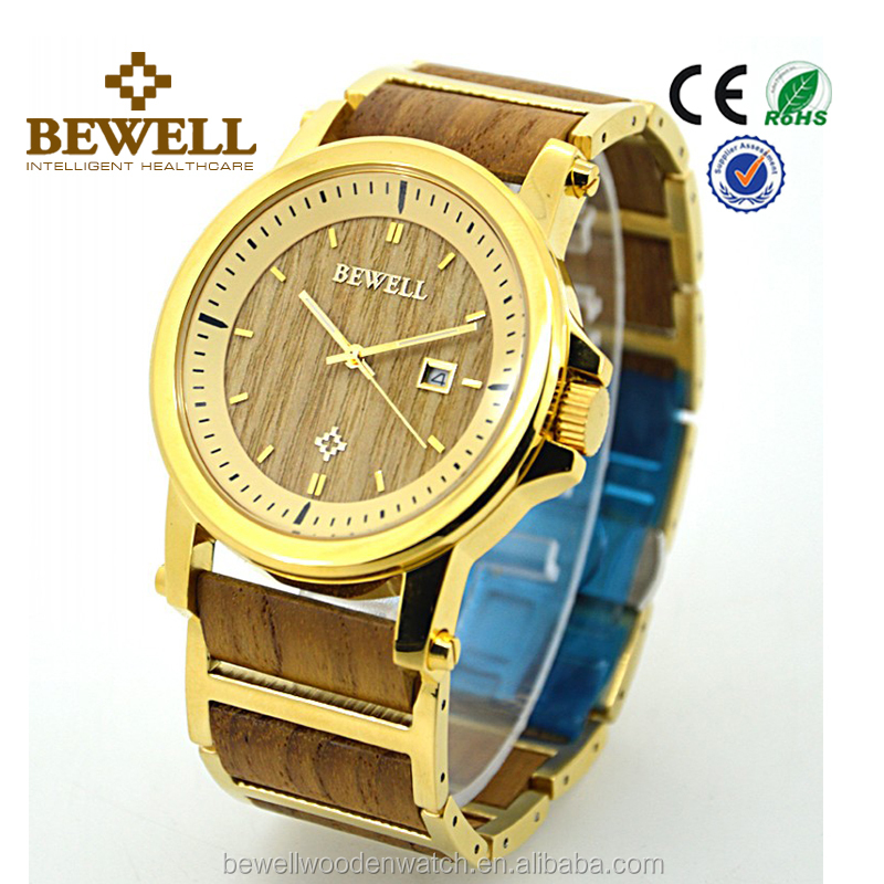 bulk watches custom logo Luxury Fashion stainless wood watch wooden watch factory