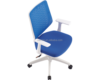 Round Back Task Guest Reception Office Chair With Arms