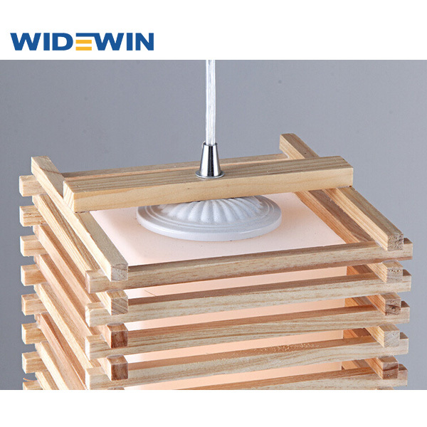 Creative dise o cuadrado de techo de la l mpara de madera - Lampara de techo de madera ...