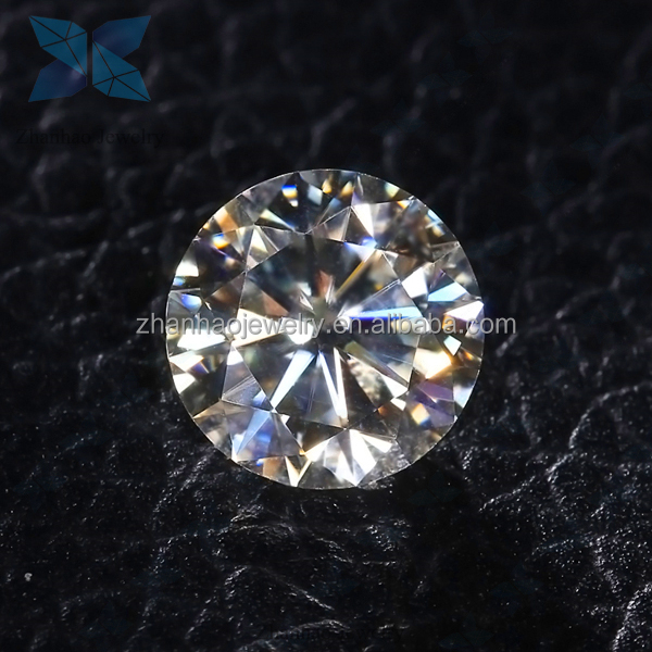 super white 1CT 6.5MM top quality Machine cut MOISSANITE <strong>stones</strong> round loose moissanite