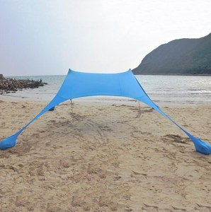 Sun Shelter Pop-Up & Wind Protection Sunshade Portable Lightweight Canopy with Stakes, Poles and Carry Case Lycra Beach Tent
