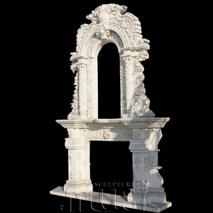Natural Stone Lower Price Granite Fireplace Hearth