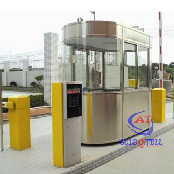 Easy to assemble and enviroment friendly stainless steel prefabricated sentry box outdoor security portable guard