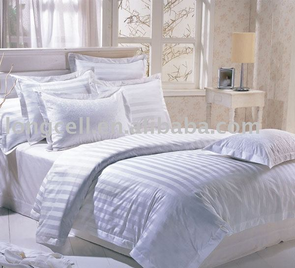 Solid Color Cotton Sateen Stripe Bedding Sheet Set For Home Use And Hotel    Buy Bed Sheet Set,100% Cotton Bedding,Bedding Set Product On Alibaba.com