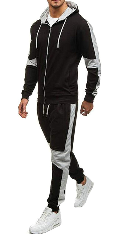 Fensajomon Men's Casual Hoodie Sweatshirts Pants 2 Pcs Outfits Sweatsuits Tracksuits Sets