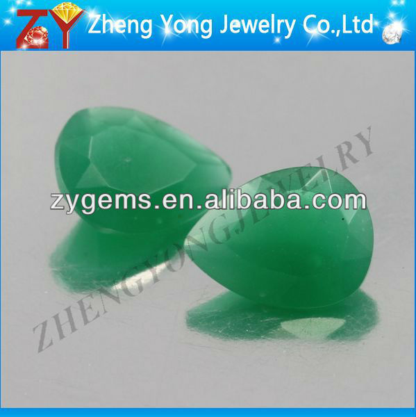 synthetic stone for wendding dress/glass gem/jade stone price