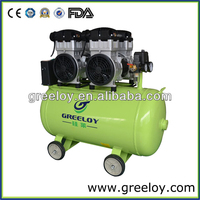 Germany Quality !!! 2400W Double Motor Oil Free Heavy Duty t Air Compressor Dental Cabinet Optional