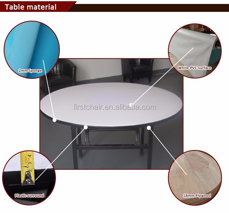 Good quality folding banquet wedding Roundtable