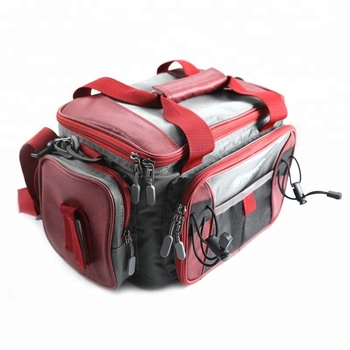 Palain 840D / 600D Polyester OEM Service 41*25*20cm Waterproof Fishing Tackle Bag with Box