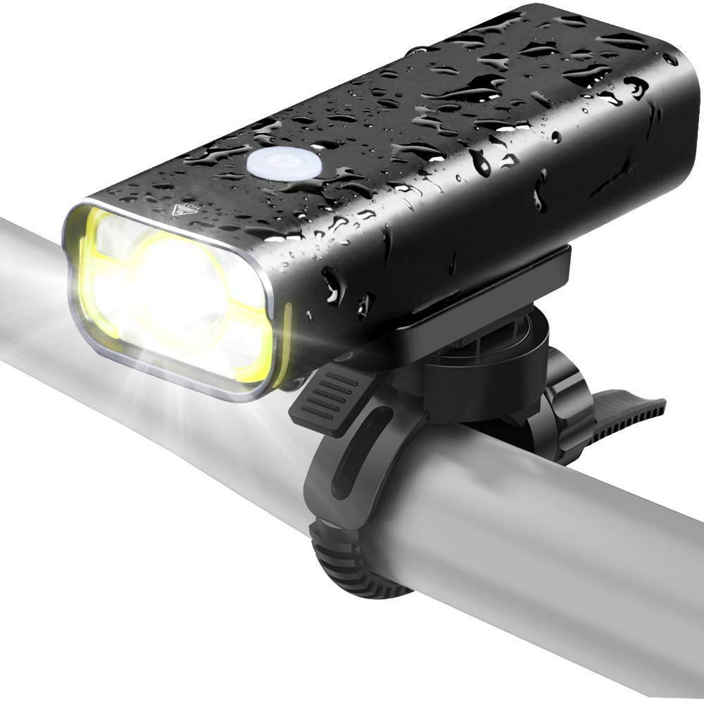 ZOUQILAI High-Bright LED Bicycle Light 800 Lumens IPX6 Waterproof Aluminum Alloy Bike Headlight USB Rechargeable Night Ride Lighting