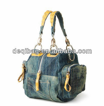 Denim Women s Handbags Girls Shoulder Bag Jeans Bag New Designer Bag ... d9831c978
