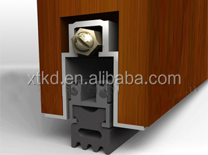 Door Bottom Aluminum Automatic Drop Seal Rubber Strip Door Seal