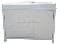 White NZ Pine Baby Change Table 3 Chest of Drawers with change pad